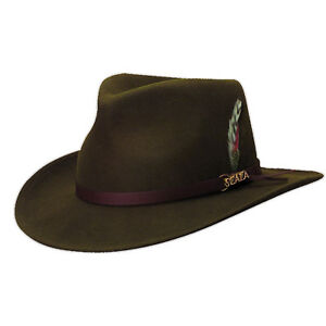 846afb913 Details about SCALA * MENS WOOL OUTBACK HAT * XXL * NEW WINTER CRUSHABLE  REPELS RAIN SUN SHADY