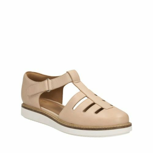 Clarks Glick Delta Nude Cuir Taille UK 6.5 D