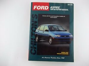 1994 1998 ford aspire service shop repair manual chilton books 26120 rh ebay co uk 1994 Ford Aspire Spindle Arm Picture 1997 Ford Aspire Parts