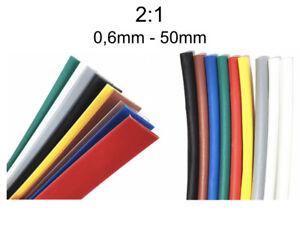 Schrumpfschlauch-1-Meter-Schrumpfrate-2-1-verschiedene-Groessen-amp-Farben-0-6-50mm