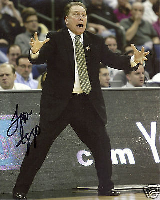 Tom Izzo Michigan State Spartans Signed 8x10 Photo W/coa #3 Evident Effect Basketball