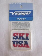 "Vintage Embroidered ""SKI USA"" Patch Voyager Brand NOS Made in USA"