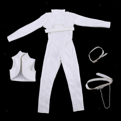 1//6 PU Leather Jumpsuit Bodysuit for 12/'/' Female Body Figure Clothing Cool