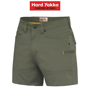 Mens-Hard-Yakka-3056-Short-Shorts-Cotton-Ripstop-Tradie-Utility-Stretch-Y05115