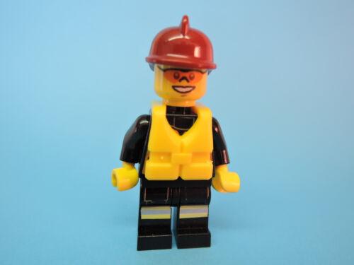 Lego Figur City Feuerwehrmann Rettungsweste  d roter Helm cty371  60005
