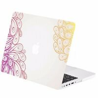 Peacock Feathers Rubberized Hard Case For Macbook Pro 15 W./ Retina Model A1398