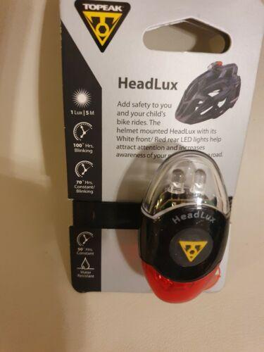 Topeak HeadLux Casque Light-Noir//Rouge//Blanc