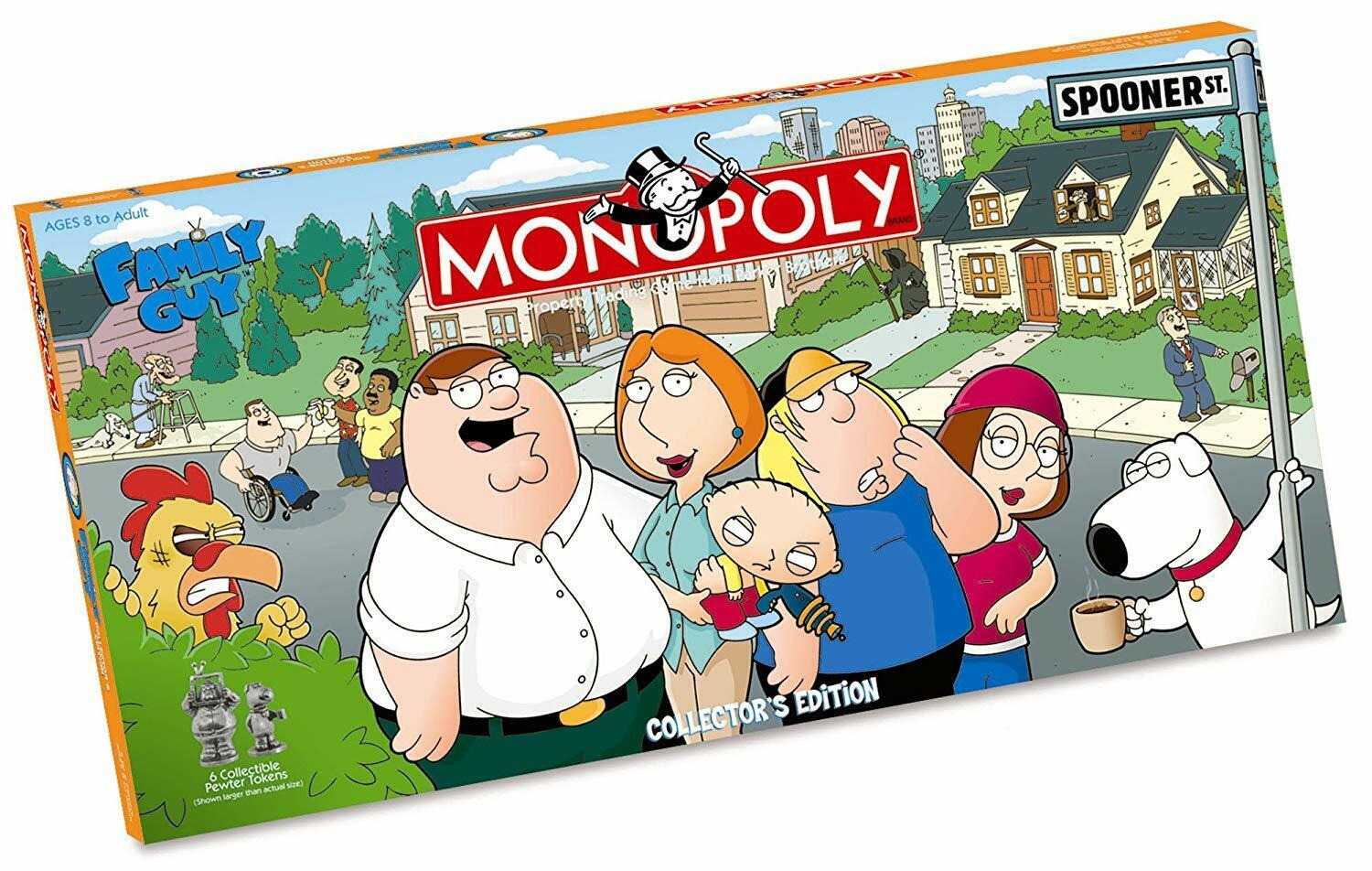 Family Guy MONOPOLY Collector's Edition 2006 USAopoly
