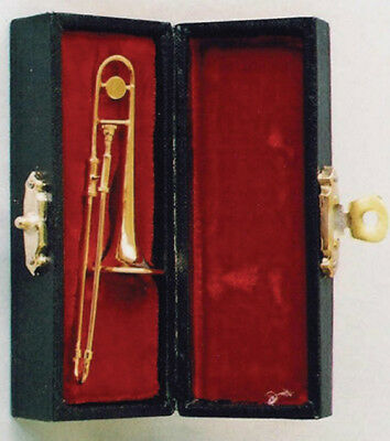 Dolls & Bears Other Dollhouse Miniatures Shop For Cheap Trombone In Case Trombone Musical Instrument Dollhouse Dollhouse 1:12 Art 9/157 Superior Materials