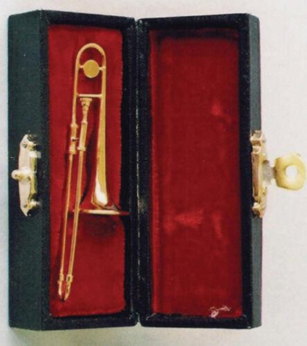 Trombone IN VALIGIA trombone STRUMENTO MUSICALE bambole Tube dollhouse 1:12 ART 9//157