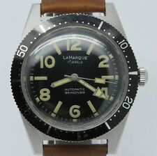 VINTAGE La Marque 38mm Mens Automatic Skin Diver Watch AS 1700 Great Dial & Lume