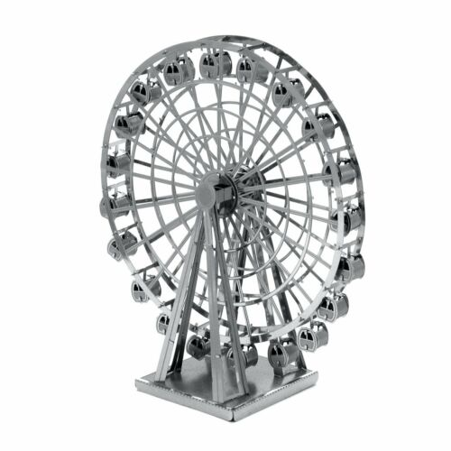 SET of 2 Fascinations Metal Earth Merry Go Round AND Ferris Wheel 3D Model Kits