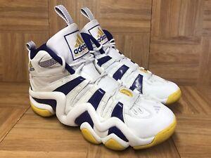 d5829da8fa93 Vintage🔥 Adidas Kobe Bryant Crazy 8 White Gold Sunshine Lakers Sz ...
