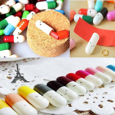 Novel 50pcs Message Letter Capsule Lovely Love Pills Multiple Color Hot Sale