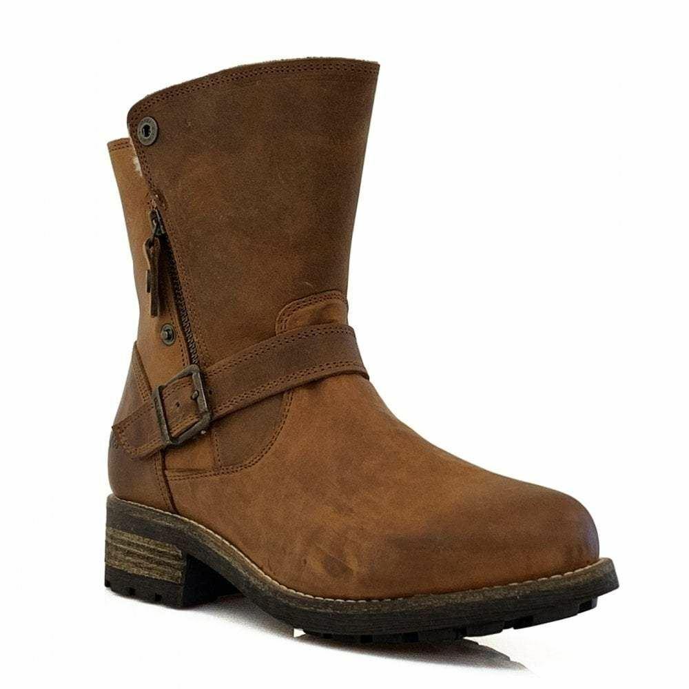 Oak & Hyde Bridge Double Up Cognac damen Casual Comfort Premium Leather Ankle B