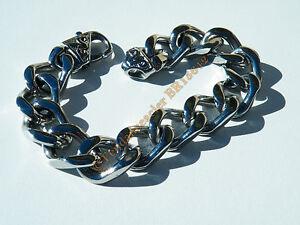 Bracelet-Homme-20-cm-Acier-Inoxydable-RAP-Maille-Gourmette-Extra-Large-13-mm