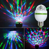 3W E27 RGB Kristallkugel Auto drehende LED Stadium Glühlampe Partei Birnen Lampe