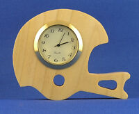 Football Helmet Mini Clock - Hand Cut W/ Insert