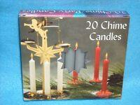 Christmas Angel Chime Candles, Gray, Box Of 20, Nib, 1/2 By 4 Tall