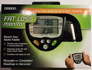 OMRON HBF-306C Handheld Body Fat Loss Monitor Home Fitness Batteries Included