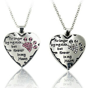 Silver plated and rhinestones pet paw heart memory pendant image is loading silver plated and rhinestones pet paw heart memory aloadofball Gallery