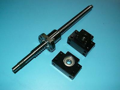 anti backlash 25mm ballscrew RM2505-500mm-C7+1 set BK//BF20 end support bearing