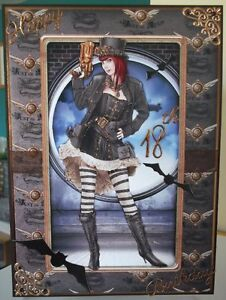 Image Is Loading Handmade Victorian Steampunk 18th Birthday Card Gothic Lady