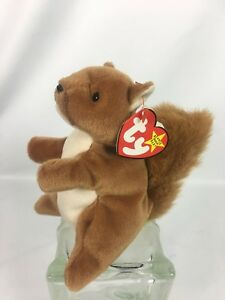 341b2305bd2 Ty Beanie Baby Babies Nuts The Squirrel Mint with Tags NWT 1996 NOS ...