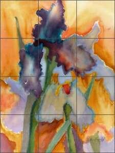 Iris-Floral-Tile-Backsplash-Neufeld-Floral-Art-Ceramic-Mural-PNA018
