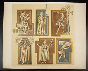 Figures Des Mois Allégories Des Saisons 1 Emile Beau Litho Xixe 1858 Hangard Avoir Un Style National Unique