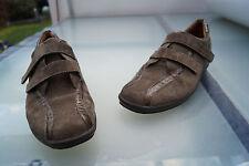 GANTER Damen Comfort Schuhe Halbschuhe Leder Einlage Klett Gr.7 / 40,5 Leder #3k