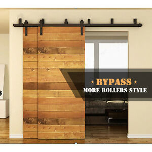 Image Is Loading 4 12ft Byp Sliding Barn Wood Door Hardware
