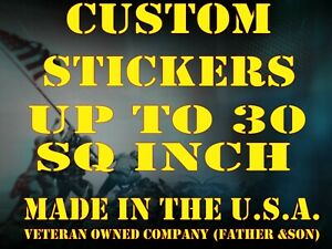 1 - Custom Printed Full Color Vinyl Car Bumper Sticker Logo Decal-up To 30 Sq In