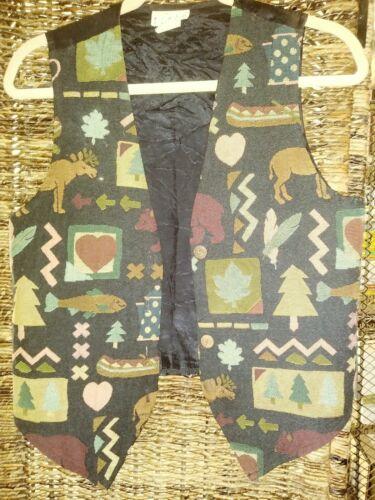 Vintage YOU BABES Northwoods Theme Vest 80s