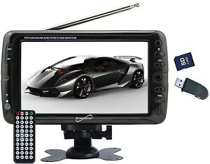 7 portable lcd tv w rechargeable battery supersonic sc. Black Bedroom Furniture Sets. Home Design Ideas