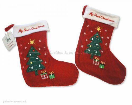 Bébé Garçons Filles Mon Premier Noël Stocking Arbre présente rouge nouveau-nés 1st Unisexe