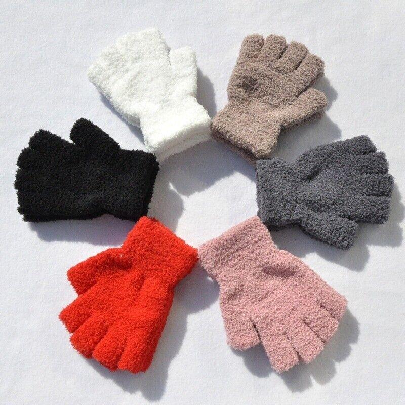 Open-Minded Women Winter Fleece Half Finger Fingerless Gloves