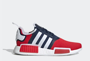 Details about Size 10 Men's adidas NMD R1 Casual Shoes Collegiate Red Navy Blue White Running