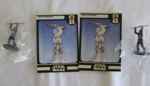 Star Wars Miniatures CLONE STRIKE Nikto Soldier x 2 New #55 Common