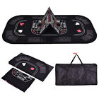 3in1 Folding 8 Player Blackjack Craps Poker Table Top & Carrying Case Black New