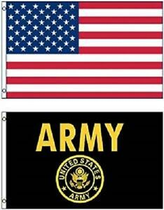 Wholesale Combo LOT 3' X 5' USA AMERICAN & US Army Seal Crest Emblem FLAG 3X5