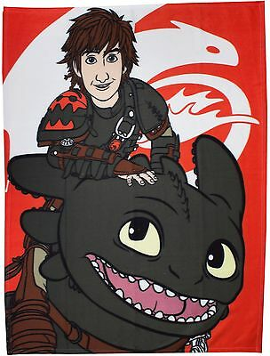 How to Train Your Dragon Toothless Kids Fleece Blanket Throw Rug New