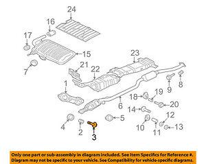 image is loading mitsubishi-oem-08-15-lancer-exhaust-catalytic-converter-