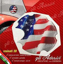 1 Adesivo Resinato Tappo Benzina 3D BRABUS Smart for two 450 452 Usa Flag