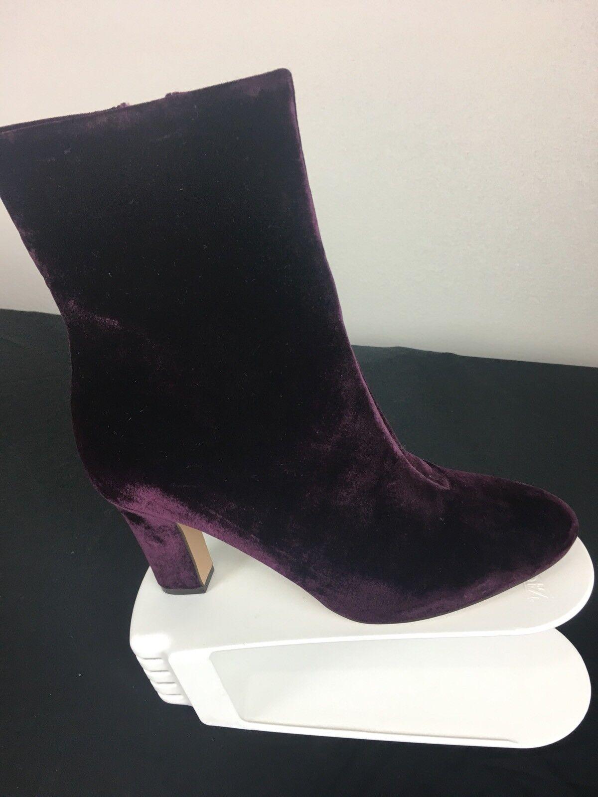 NIB Lauren Ralph Lauren Women's Size 6.5B Red Velvet Bridget Boots Msrp  150