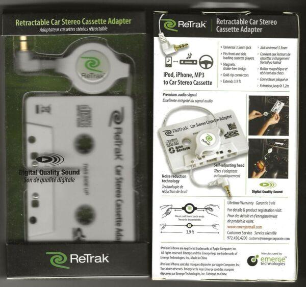1 Retrak Car Stereo Cassette Adapter Ipod & Mp3 & Iphone Mooi En Kleurrijk