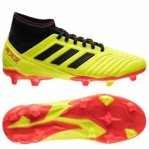 adidas Predator 18.3 FG 2018 Soccer Cleats Shoes New Yellow   Orange ... 6893652b1