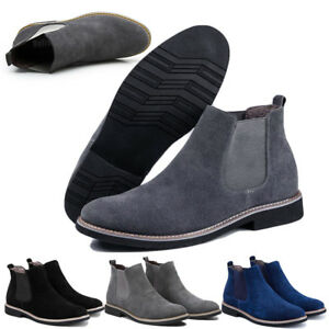 6f1d200d4 Mens Flat Suede Ankle Slip On Ankle Boots Smart Casual Desert ...