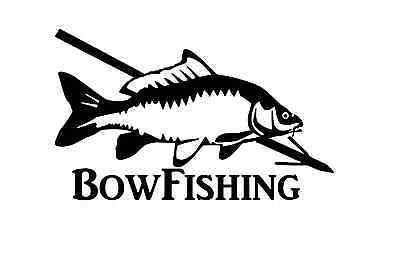 bow fishing sticker bowfishing reel fish slingshot arrow bowfish skillet decal