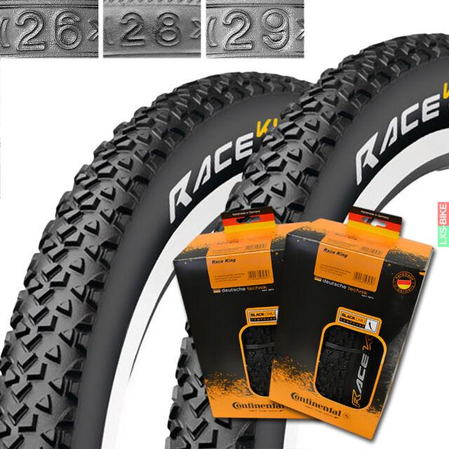 """2 x Continental Race King 26""""-29"""" MTB Fahrrad Reifen 1 Paar Bike Tire Decke"""